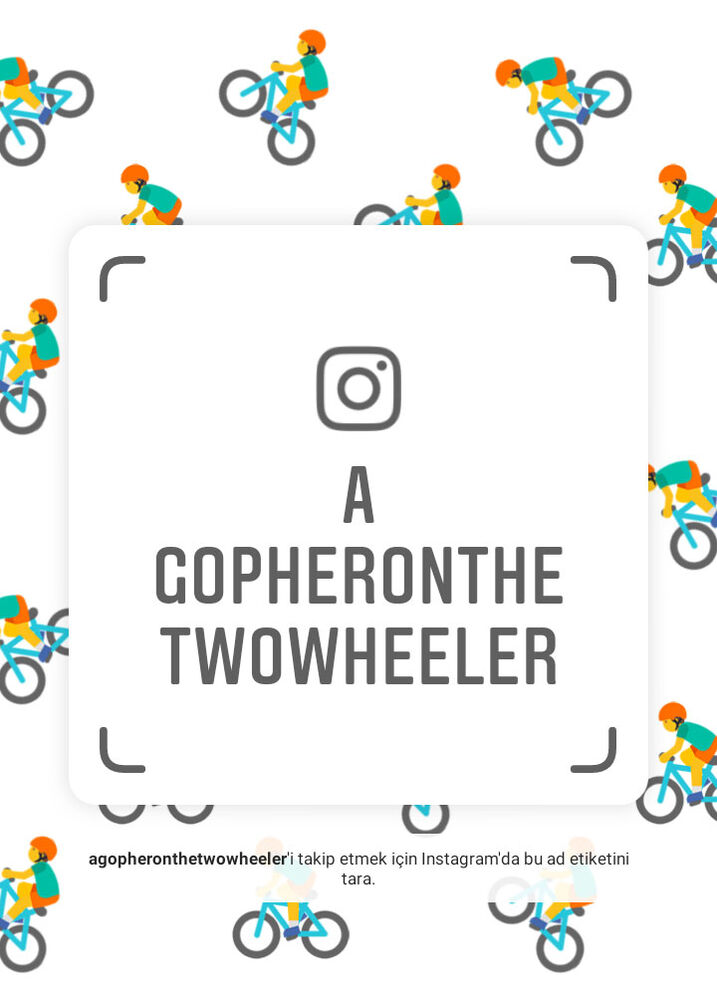A Gopher on the Two-Wheeler on Instagram